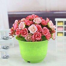 LIXIAOXIN Simulation Rose Falsche Blumen Ornamente