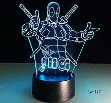Lixiaoyuzz 3D Nachtlampe Illusion-Stimmungslampe