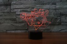 Lixiaoyuzz 3D Nachtlampe Schauen Sie