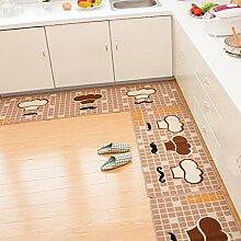 LIXIONG Anti-Rutsch-Absorbent Haushalt Teppich-Pad, Fußmatte, Halle Mat, Küche Mat Rutschfester Fußpolster ( Farbe : G , größe : 50*150cm )