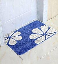 LIXIONG Anti-Rutsch-Teppich Wohnzimmer Schlafzimmer Bedside Staubpad Fußmatte Küche Bad Tragen Wasserabsorption Teppich Rutschfester Fußpolster ( Farbe : D , größe : 40×60cm )