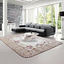 LIXIONG Baby-Teppiche, Wohnzimmer Couchtisch Teppich, Krabbeln Mat Rosa Kinderzimmer Teppich, 6 Farben optional Rutschfester Fußpolster ( Farbe : B , größe : 1.3*1.9m )