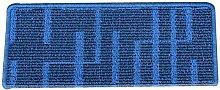 LIXIONG Blau Treppenbelag Treppenmatten Teppich