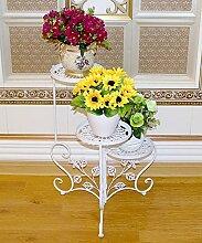 LIXIONG Eisen Blumen Racks Europäische Kreativ 3 Schichten Blumentopf Rack Indoor Wohnzimmer Balkon Pflanze Stand Hochwertige Blume ( Farbe : C , größe : 48*68cm )