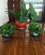 LIXIONG Eisen Blumen Racks Europäische Pastoral Einfachheit Balkon Blumentopf Rack Blume Regal Schwarz, Weiß Und Bronze Hochwertige Blume ( Farbe : B , größe : 80*25cm )