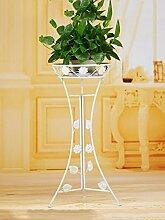 LIXIONG Eisen Blumenrahmen Balkon Indoor Blumentöpfe Bronze Single Layer Blume Regal Hochwertige Blume ( Farbe : B , größe : 36*60cm )