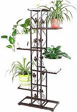 LIXIONG Eisen Blumenrahmen Balkon Mehrgeschoss Töpfe Wohnzimmer Innenraum Kreative Pflanze Blumen Regal Hochwertige Blume ( Farbe : A )