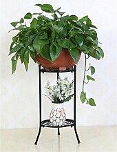 LIXIONG Europäische - Stil Einfache Eisenboden Blumentöpfe Regal Für Wohnzimmer, Balkon, innen, hängenden Rack für Orchidee Hochwertige Blume ( Farbe : Schwarz )