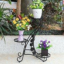 LIXIONG European-style Garten Einfache Eisen Multi-Layer-Blumentopf Rack / Blume Regal / Topf Regalboden Wohnzimmer Balkon Kreative Blume Rack / Pflanze Rack Hochwertige Blume ( farbe : B )