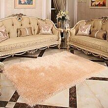 LIXIONG Im europäischen Stil dicken Teppich Wohnzimmer Couchtisch Teppich Schlafzimmer Nacht Eingang Teppiche, 1.4 * 2.0m, Mats (10 Farben) Rutschfester Fußpolster ( Farbe : D , größe : 1.4*2.0m )