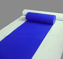 LIXIONG Korridor Hochzeit Teppich, 6-Farben-Farbe Teppich Optional, für die Feier der Eröffnungszeremonie der Ausstellung eröffnet eine einmalige Verwendung von Matten, (1-20 Meter lang) Rutschfester Fußpolster ( Farbe : E , größe : 1.0*20m )