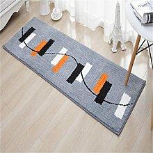 LIXIONG Küche schmutzig Teppich Badezimmer Wasserabsorption Fußmatte Anti-Rutsch-Schlafzimmer-Streifen Bedside Pad Bay Window Teppich Rutschfester Fußpolster ( größe : 50CM×170CM )