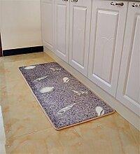 LIXIONG Küche Teppich Fußmatte Couchtisch Wohnzimmer Balkon Schlafzimmer Eingang Wasserabsorption Anti-Rutsch-Teppich Rechteck Staubdicht Teppich Rutschfester Fußpolster ( Farbe : A , größe : 60cm×160cm )