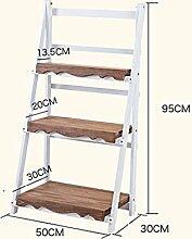 LIXIONG Massivholz Balkon Blumentopf Rack Indoor Holz Multi - Layer Multi - Fleisch Pflanze Potted Holz Blumentopf Regal Hochwertige Blume ( größe : B-50*95cm )