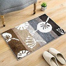 LIXIONG Mats Teppich Pad Absorbent Badezimmer Skid Teppich Wohnwasserdicht Dust In The Carpet Rutschfester Fußpolster ( Farbe : A , größe : 45*65cm )