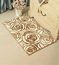 LIXIONG Mikrofaser Mats Fußabtreter Salon Schlafzimmer Office-Pad Badezimmer Kufe Teppich 50x80cm Rutschfester Fußpolster ( Farbe : C )