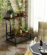 LIXIONG Outdoor Holzblumen Topf Rahmen Balkon Pflanze Regale Multi - Storey Leiter Racks Indoor Blumentopf Racks Hochwertige Blume ( größe : 100cm )