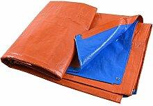 LIXIONG Plane Gewebeplane Sonnenschutz-Sonnenschutz LKW Doppelseitig wasserdicht Öl-Tuch, Blau orange, Polyethylen, 5 Größen ( Farbe : 2x3m )