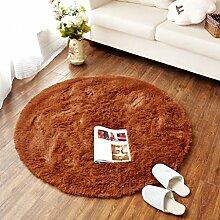 LIXIONG Rund Teppich Mats, Kaffeetisch Schlafzimmer Teppich, Kissen Hocker, runden Raum Teppich, (acht Arten von Farbe Optional) Rutschfester Fußpolster ( Farbe : L , größe : 4.5cm-1.2m )