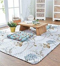 LIXIONG Teppichboden- Baumwolle Haushalt Matte Bedside Schlafzimmer Pad Teppich Rutschfester Fußpolster ( Farbe : B , größe : 150*150cm )