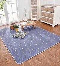 LIXIONG Teppichboden- Baumwolle Haushalt Matte Bedside Schlafzimmer Pad Teppich Rutschfester Fußpolster ( Farbe : D , größe : 90*150cm )