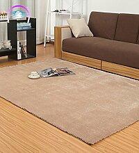 LIXIONG Teppichboden- Einfache moderne Teppich Wohnzimmer Schlafzimmer Anti-Rutsch-verdickte Teppich Rutschfester Fußpolster ( Farbe : G , größe : 120*170cm )
