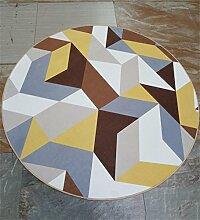 LIXIONG Teppichboden- Europäische Rundschreiben Teppich Simple Modern Wohnzimmer Couchtisch Sofa Schlafzimmer Bedside Studie Teppich Rutschfester Fußpolster ( Farbe : C , größe : 120*120cm )