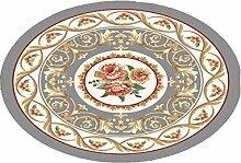 LIXIONG Teppichboden- Europäische Stil Halbkreisförmige Form Kreative Haushalt Schlafzimmer Wohnzimmer Couchtisch Sofa Bedside Teppich Rutschfester Fußpolster ( Farbe : B , größe : 160cm )
