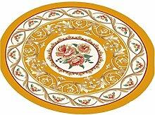 LIXIONG Teppichboden- Europäische Stil Halbkreisförmige Form Kreative Haushalt Schlafzimmer Wohnzimmer Couchtisch Sofa Bedside Teppich Rutschfester Fußpolster ( Farbe : C , größe : 160cm )