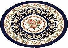 LIXIONG Teppichboden- Europäische Stil Halbkreisförmige Form Kreative Haushalt Schlafzimmer Wohnzimmer Couchtisch Sofa Bedside Teppich Rutschfester Fußpolster ( Farbe : G , größe : 100cm )