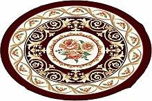 LIXIONG Teppichboden- Europäische Stil Halbkreisförmige Form Kreative Haushalt Schlafzimmer Wohnzimmer Couchtisch Sofa Bedside Teppich Rutschfester Fußpolster ( Farbe : F , größe : 120cm )
