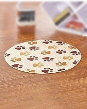 LIXIONG Teppichboden- Zirkularer Teppich Wasserabsorptionsbad Hall Küche Schlafzimmer Wohnzimmer Eingang Rutschfester Fußpolster ( Farbe : C , größe : 80cm )