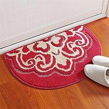 LIXIONG Wear Teppich Wohnzimmer Schlafzimmer Bedside Staubauflage Küche Fußmatte Badezimmer Wasserabsorption Anti-Rutsch-Teppich Rutschfester Fußpolster ( Farbe : E , größe : 40X63cm )