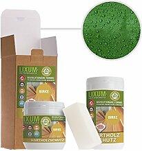 LIXUM BIRKEN HOLZSCHUTZ BIO (dunkelgrün) 3000ml = 90m²- natürlicher Langzeitschutz für Holz, hält bis zu 10 Jahren, nur 1 Anstrich nötig. Mit integriertem UV-Schutz und ohne Weichmacher.