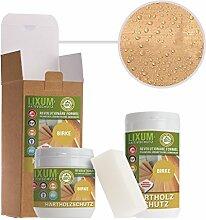LIXUM BIRKEN HOLZSCHUTZ BIO (farblos) 175ml = 5m²- natürlicher Langzeitschutz für Holz, hält bis zu 10 Jahren, nur 1 Anstrich nötig. Mit integriertem UV-Schutz und ohne Weichmacher.
