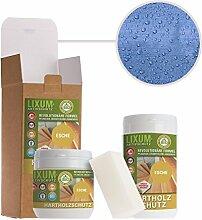 LIXUM ESCHEN HOLZSCHUTZ BIO (blau) 3000ml = 90m²- natürlicher Langzeitschutz für Holz, hält bis zu 10 Jahren, nur 1 Anstrich nötig. Mit integriertem UV-Schutz und ohne Weichmacher.