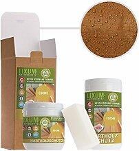 LIXUM ESCHEN HOLZSCHUTZ BIO (braun) 3000ml = 90m²- natürlicher Langzeitschutz für Holz, hält bis zu 10 Jahren, nur 1 Anstrich nötig. Mit integriertem UV-Schutz und ohne Weichmacher.