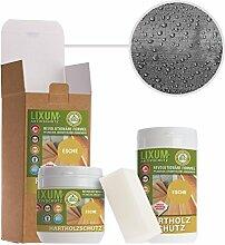 LIXUM ESCHEN HOLZSCHUTZ BIO (grau) 175ml = 5m²- natürlicher Langzeitschutz für Holz, hält bis zu 10 Jahren, nur 1 Anstrich nötig. Mit integriertem UV-Schutz und ohne Weichmacher.