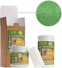LIXUM ESCHEN HOLZSCHUTZ BIO (grün) 3000ml = 90m²- natürlicher Langzeitschutz für Holz, hält bis zu 10 Jahren, nur 1 Anstrich nötig. Mit integriertem UV-Schutz und ohne Weichmacher.