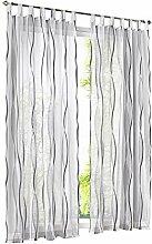 LiYa 1 Stück Gardinen mit Wellen Muster Design