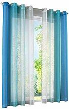 LiYa 2 Stück Gardinen mit Farbverlauf Design