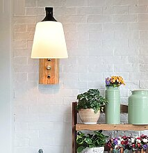 LIYANE12618Massivholz Schlafzimmer Wand lampe
