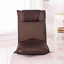 LIYONGDONG® Faltbares Sofa Einzelnes faules Sofa Tatami Einfacher Sessel Stuhl Abnehmbarer und waschbarer Bodenbelag Balkon mit Sofa , 10