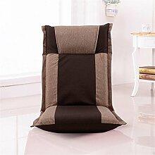 LIYONGDONG® Faltbares Sofa Einzelnes faules Sofa Tatami Einfacher Sessel Stuhl Abnehmbarer und waschbarer Bodenbelag Balkon mit Sofa , 4