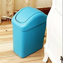 LIYONGDONG® Mülleimer Haushalt Mülleimer Badezimmer Wohnzimmer Küche Mülleimer Material Kunststoff Spezifikationen 24 * 14 * 32CM blue S