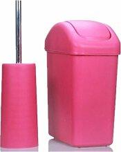 LIYONGDONG® Mülleimer Kreativ Shake Abdeckung Mülleimer Haushalt Mülleimer Büro Papier Papier Körbe Material Kunststoff 11L rose red S