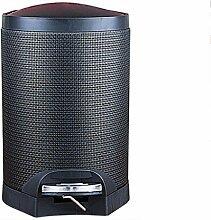 LIYONGDONG® Rundpedal Mülleimer mit Plastik Inneneimer 8L - PU Leder d small