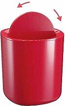 LIYONGDONG® Schütteln Deckel Mülleimer Haushaltsbüro Mülleimer bedeckt Sanitär-Trommeln Kunststoff Spezifikationen 188 * 188 * 212mm Farbe rot red