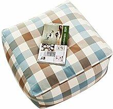liyongdong Tofu Block Sofa eine Person, Leinwand Quadratisch Sitzsack, können Sie Pedal, Liegen, Sit Down B