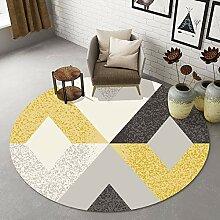 LIYUZHEN Runder Teppich, Nordic Modern Minimalist